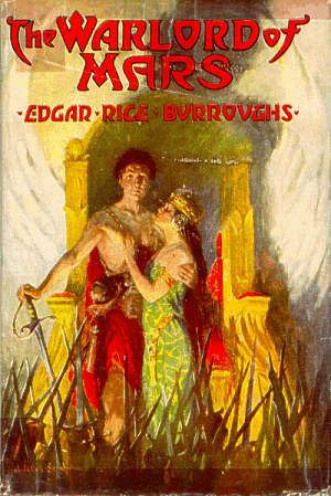 Front cover of 1st edition dust jacket by St.John from  collection of  Phantom Bookshop see http://www.johncarterofmars.com